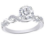 Twisting Infinity Engagement Ring 14k Gold Round Natural Diamond 0.63 Cttw