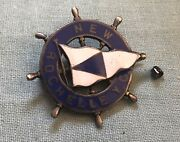 Rare 19th Century Sterling Silver And Enamel New Rochelle Yacht Club Pin