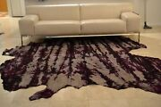 New Dyed Cowhide Rug Leather Suede Large White Black Red Blue Purple Pink Blue