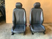 Bmw F32 435i Front Left And Right Sport Red Stiched Seats Black Set Oem 014