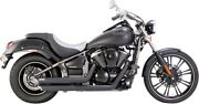 Vance And Hines Black Twin Slash Staggered Exhaust System 06-14 Vulcan Vn900 48397
