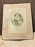 Rare Old Photo Of Indian Famous Maratha Lady Rare 1849 Mark Collectible