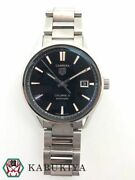 Tag Heuer Carrera Caliber 5 War211 Automatic Black Dial Menand039s Watch Used [b0913]