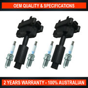 2x Swan Ignition Coils And 4x Ngk Spark Plugs For Ford Transit Vh Vj 2.3l