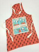 Vintage Peanuts Snoopy And Woodstock Sari Fabric Cooking Apron Diet E/0230