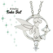 Disney Necklace Peter Pan Tinkerbell Silhouette Silver Ladies From Japan [a0915]