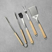 Hearth And Hand Magnolia Grill Tool Set 4pc Spatula Baster Fork Tongs Bbq Grilling