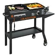 Blackstone Duo Griddle And Charcoal Gas Grill Combo Outdoor Cooking Bbq Barbecue