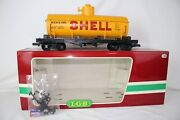 Lgb G Scale 4080-y04 Shell Oil Single Dome Tank Car, Excellent, Boxed, Lot A