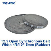 Trapezoid T2.5 Open Synchronous Timing Belt Width 4/6/10/15mm Rubber 3d Printer