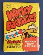 1973 Vintage Wacky Packages Series 3 Unopened Yellow -85- Pack @@ Rare @@