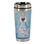 God And Angels Protect You 16 Oz Stainless Steel Travel Mug With Lid