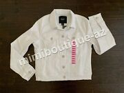 Nine West Jeans Womenand039s White Denim Sarah Jacket Button Up New Outerwear