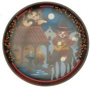 Anna Perenna Uncle Tads Golden Oldies Cat Plate - Ramona Cp756