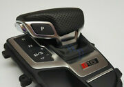 Genuine Audi Rs5 F5 Also S5 A5 Leather Gear Knob / Shift Knob Blue For Automatic