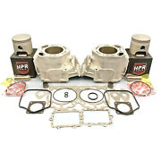 Re-plated 82mm Std Ski-doo 800 Non-ho Cylinders Hpr Pistons Gasktes 01-03 Mxz