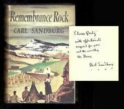 Carl Sandburg / Remembrance Rock Signed First Edition 1948