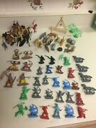 Vintage Cowboys And Indians Plastic Toy Set With K And M Int Animal Toys