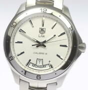 Tag Heuer Link Wat2011 Caliber 5 Automatic Stainless Menand039s Watch [b0918]