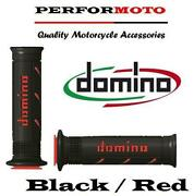 Domino Xm2 Grips Black / Red To Fit Kawasaki Zx10r