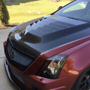 2009-2015 Cadillac Cts-v Heat Extraction Vented Hood Carbon Fiber Top