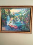 Tom Dubois Disney The Magic Of Peter Pan Framed Canvas Limited Edition18/2500
