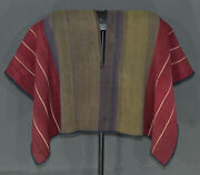 Awesome Aymara Indian Leader´s Poncho Cover 19th C. Cochineal Dyes Tm13059