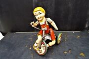 Rare And In Good Working Order Mechanical Clock Work Tin Toy
