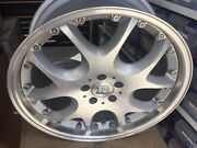 Andldquonewandrdquobrabus Mono V 2pc 9.5 X20 Et 45 5112 Silver One Wheel Only Made In Ger