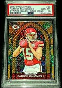 Patrick Mahomes Ii 2017 Panini Prizm Stained Glass Gold Mojo Rc Sp 02/10 Psa 10