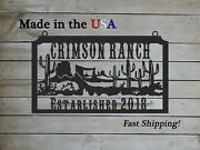 Farm Sign With Ranch Theme Wild West Ranchlarge Entrance/gate Rectangles1328