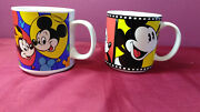 Vint.disney Mickey Mouse Coffee Cup Minnie Micky Mouse Goofy Pluto Daffy Duck
