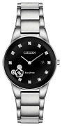 Citizen Ga1051-58w Micky Mouse Collection 29.5mm Diamond Accent Ladies Watch