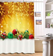 Spark Christmas Waterproof Bath Polyester Shower Curtain Liner Water Resistant