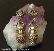 Antique Etruscan 14k Yellow Gold Perfume Poison Potion Screw Top Bottles Charms