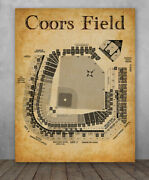 Poster - Coors Field Baseball Stadium Seating Chart - Unframed Poster Or Canvas