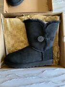 Used, In Box Ugg Bailey Button Boots, Black Size 7