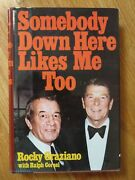 Somebody Down Here Likes Me Too By Boxer Rocky Graziano 1981 1st Edition Book