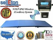 Ntep Floor Scale 48 X 96 4and039 X 8and039 Wireless Cordless 2 Ramp 5000 Lbs X 1 Lb