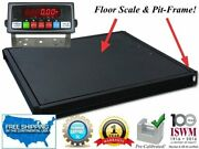 48 X 48 4and039x4and039 Floor Scale With Pit Frame Pallet Size 1000 Lbs. X .2 Lb