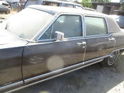 Driver Door And Glass Lincoln Continental Town Car 77 78 79