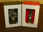 Pair Of Wallace Silversmiths Pewter Bell Christmas Ornaments In Boxes