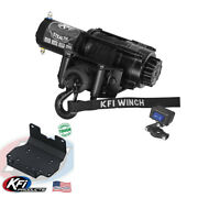 2500 Lb Kfi Stealth Winch Combo Kit M1 For 2016-2019 Yamaha Grizzly 700 4x4