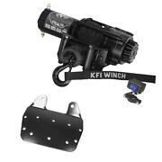 3500 Lb Kfi Stealth Winch Combo Kit M1 For 2002-2008 Yamaha Grizzly 660 4x4