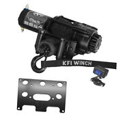 3500 Lb Kfi Stealth Winch Combo Kit M4 For 2002-2005 Arctic-cat 400 2x4 / 4x4