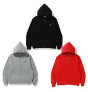 A Bathing Ape Menand039s Relaxed Ape Head One Point Full Zip Hoodie 3colors New