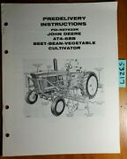 John Deere At4-6bb Beet Bean Vegetable Cultivator Predelivery Inst Manual 10/60