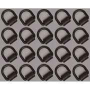 20 Pack 1/2 Heavy Duty Weld-on Forged D Rings 10,000 Lbs