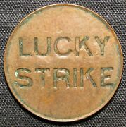 Lucky Strike Us Copper Token 19 Mm And 2.5 Grams