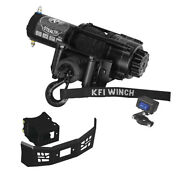 3500 Lb Kfi Stealth Winch Combo Kit M3 For 2015-2019 Polaris Ace 570 / Sp